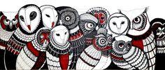'13 Owls' - by Burcak Kafadar