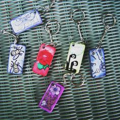 Altered domino keychains for teachers by TERRORE3 - Cards and Paper Crafts at Splitcoaststampers
