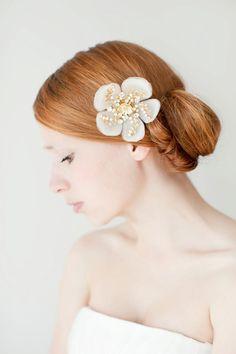 Bridal Hair Piece Floral Swarovski Crystal  Style by sibodesigns, $105.00