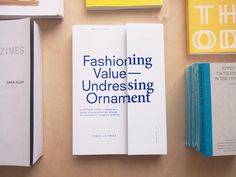 Fashioning Value – Undressing Ornament by Femke de Vries, part of the ongoing Onomatopee publisher showcase a the London Centre for Book Arts. Visit us in person or find the books online at...