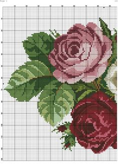P-Style 38 Lightning Embroidery Design Adult Cotton Short Sleeve Polo Shirt White Small - Embroidery Design Guide Counted Cross Stitch Patterns, Cross Stitch Charts, Cross Stitch Designs, Rose Embroidery, Cross Stitch Embroidery, Embroidery Designs, Cross Stitch Rose, Cross Stitch Flowers, Le Point