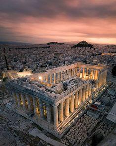 Athens Acropolis, Athens Greece, Ancient Ruins, Ancient Greece, Monuments, Places To Travel, Places To Visit, Rome, Destinations