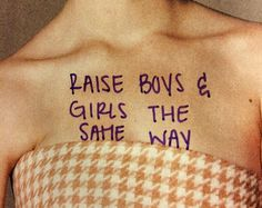 Raise boy and girls the same way