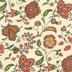"""Sirsa Coord (SKU: 73894)  Our Price: $19.99 per yard   Color: Framboise (prov 2)  Content: 100% Cotton  Country: France  Width: 59""""  Repeat: V-8.375"""" H-12"""""""