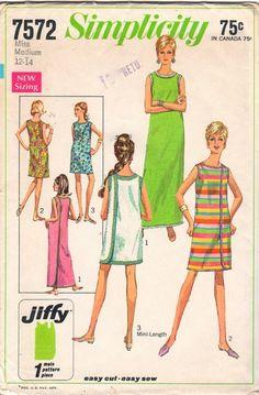 1960s Misses 3 Armhole Wrap Dress Pattern Womens Vintage Sewing Pattern