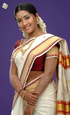 This Photo was uploaded by Indian Actress Hot Pics, South Indian Actress Hot, Most Beautiful Indian Actress, Indian Actresses, Beauty Full Girl, Cute Beauty, Beauty Women, Kerala Traditional Saree, Kerala Saree