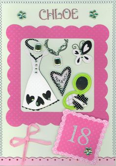 Birthday card 2010 female; Cricut elements