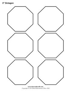 Octagon template geometryshapes pinterest template english printable octagontemplates pronofoot35fo Choice Image
