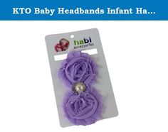 KTO Baby Headbands Infant Hair Bows Girl's Hairband Head Wrap (Purple). Beautiful decorative flower, crystal and bead design hair bow headband to add an additional level of adorable to your precious little one. They come in a variety of lovely colors: Red, blue, grey, purple, pink, hot pink, white, yellow and black.