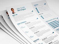 Creative Resume by DesignGhor on College Resume Template, Best Resume Template, Resume Design Template, Creative Resume Templates, Design Templates, Business Brochure, Business Card Logo, Wedding Brochure, Simple Cv Template