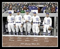 1917 White Sox Colorized Photo - Eddie Murphy - Shano Collins - Joe Jackson - Hap Felsch - Nemo Leibold - $4.95