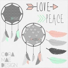 free feathers & dream catchers clip art