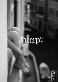 Design . Jump ? . B&W .