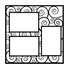 Swirls3, Flourishes Scrapbooking Die Cut Overlay