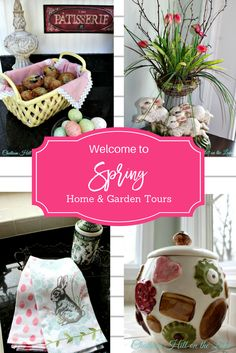 Getting ready for Spring? Here are some ideas I used in my home. Check it out on the blog, we are having a Bunny Hop this week! www.yourhomeyourhappyplace.com