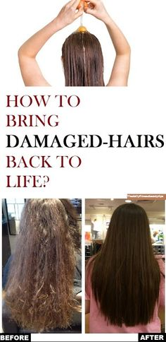 Beauty&fitness with A.bari: How To Bring Damaged Hair Back To Life? Hair Masks For Dry Damaged Hair, Bleach Damaged Hair, Treatment For Damaged Hair, New Hair Growth, Hair Growth Tips, Damaged Hair Remedies, Best Diy Hair Mask, Natural Hair Treatments, Natural Remedies