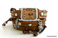 Womens Watch Wrap Watch Wrist Watch with by CuckooNestArtStudio, $49.00