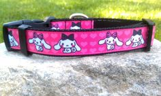 Bunny Friends Dog Collar by WillyWoofs on Etsy, $16.00