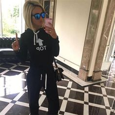 Find More Women's Sets Information about Gagaopt 2016 Autumn Winter Women 2 Pieces Hoodie Tracksuits New…