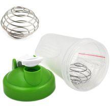 Envío rápido 400 ml nueva mezcla de Mini botella de agua protein Shaker con bola para los deportes botella exterior 9 colores elección(China (Mainland))
