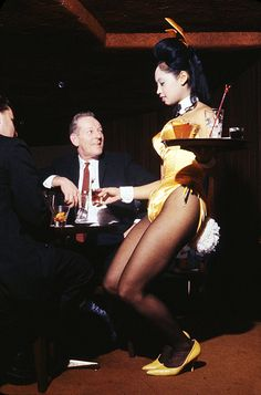 1950s and 1960s Playboy Bunnies   New York Playboy Club photographed by Peter Basch, 1964