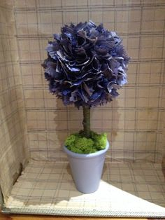 Dusky purple fabric topiary tree