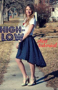 @roressclothes closet ideas #women fashion Hi-lo Skirt with Dots