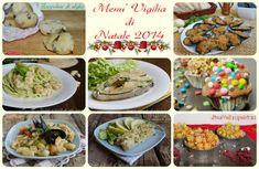 Menu di pesce vigilia di Natale 2014, ricetta facili, veloci ed economiche. Ricette antipasti di mare per la Vigilia, primi, secondi piatti di pesce gustosi