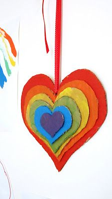 Rainbow Stacked Hearts on A Little Learning For Two