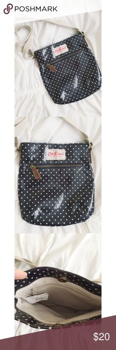 Cath Kidston Crossbody Purse Cath kidston cross body purse.  Great condition.  Navy blue with cream dots and strap. Fully adjustable strap. Cath Kidston Bags Crossbody Bags