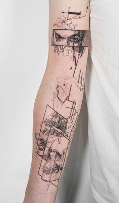Geometrische Tattoos - Geometrische Tattoos - tattoo designs ideas männer männer ideen old school quotes sketches