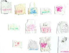 heroin stamps. Glassine heroin bags ...