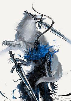 Artorias The Abysswalker,DS персонажи,Dark Souls,фэндомы,Great Grey Wolf Sif Sif Dark Souls, Dark Souls Artorias, Arte Dark Souls, Dark Fantasy Art, Dark Art, Soul Saga, Soul Tattoo, Images Star Wars, Armadura Medieval