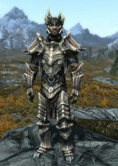 """Dragon Warlord"" by Drakon Helm of Yngol Dragonplate Armor, Boots and Gauntlets Skyrim Armor, Skyrim Dragon, One Punch, Skyrim Builds, Dragon Scale Armor, Character Art, Character Design, Elder Scrolls V Skyrim, Angel Of Death"