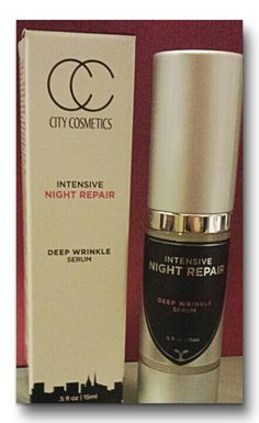 Coming soon! City Cosmetics intensive night repair, a deep wrinkle serum.