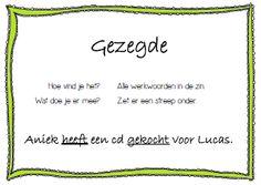 heel veel leerzame en handige materialen voor in de klas Learn Dutch, Creative Teaching, Grammar, Homeschool, Language, Classroom, Teacher, Letters, Lisa