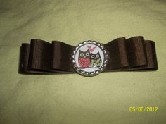 Brown Owl Bottle Cap Bow by ang744 on Etsy, $3.00