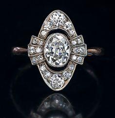 Antique Edwardian Diamond Engagement Ring c. 1910