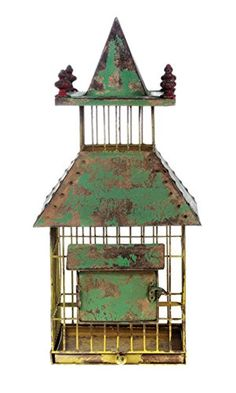 Green Metal Chic Cottage Birdcage Iron Antique Old Style Shabby Pagoda >>> To view further for this item, visit the image link.Note:It is affiliate link to Amazon.