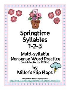 Multi-syllable Nonsense Word Game for Advanced Phonics Learners. This activity will help students practice reading multi-syllable nonsense words wh...