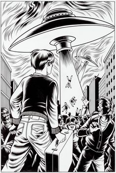 A Slice of Fried Gold - Charles Burns - comics - illustration - art - aliens - UFO!
