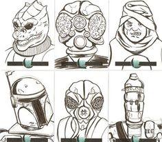 Bounty hunter sketch cards, Heck yeah!