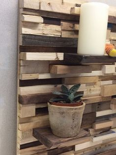 Pallet Wall Art Bespoke Feature Wall Reclaimed by Nesthandpainted Decor, Wood, Decorative Panels, Home Decor Items, Small Shelves, Home Decor, Feature Wall, Pallet Wall Art, Wood Mosaic