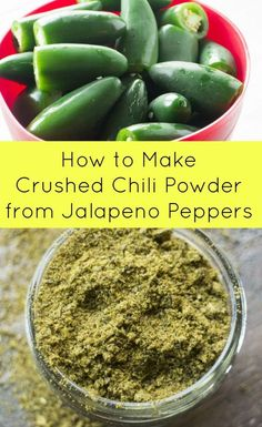 How to Make Crushed Chili Pepper Powder and Flakes from Jalapeno Peppers. Have a bunch of jalapeno peppers? Then dry them in the oven…