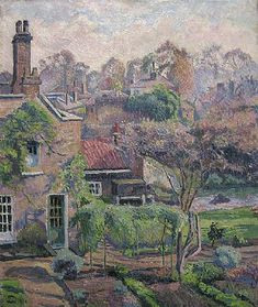 """""""The Brook, Sunny Weather"""" by Lucien Pissarro, eldest child of Impressionist painter Camille Pissarro, Paris-born, based in Britain after 1890, 1863-1944"""
