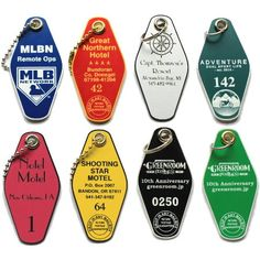 Hotel Motel Engraved Key Tags by Sanzo Specialties - No Minimums - Key Tags, Lockboxes, Real Estate Supplies, Brochure Boxes, Sanzo Specialties