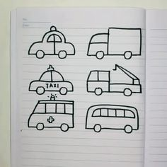 simple easy drawing ideas for kinds of car, kids love it! Basic Drawing For Kids, Car Drawing Kids, Drawing Ideas Kids, Drawing Classes For Kids, Cartoon Drawing For Kids, Simple Car Drawing, Car Drawing Pencil, Drawing Games For Kids, Shading Drawing