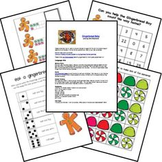 The Gingerbread Baby Lesson Plans Unit Study Lapbook Printables FREE