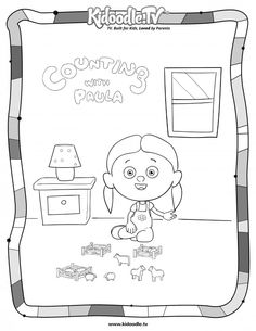 Free Counting With Paula Coloring Sheets