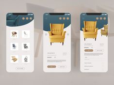 Furniture App Concept designed by Anna Udovenko. Connect with them on Dribbble; Web Design Mobile, App Ui Design, Flat Design, Design Design, Design Layouts, Application Mobile, Application Design, Design Thinking, Design Responsive